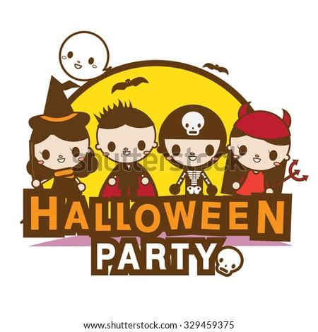 halloween party banner kawaii kids costume