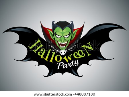 halloween party design template dracula place のベクター画像素材