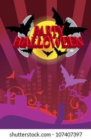 halloween  Party. Editable Vector Format