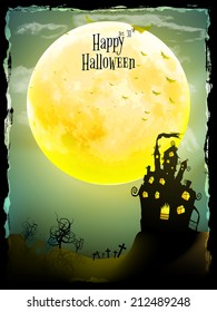 Halloween party greeting card. EPS 10 vector file included
