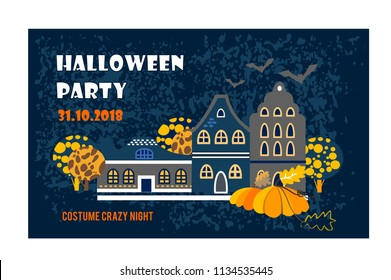 Halloween party.  holidays invitation or greeting card