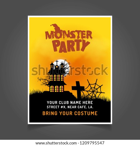 Halloween Party Invitation Card Creative Design Wektor