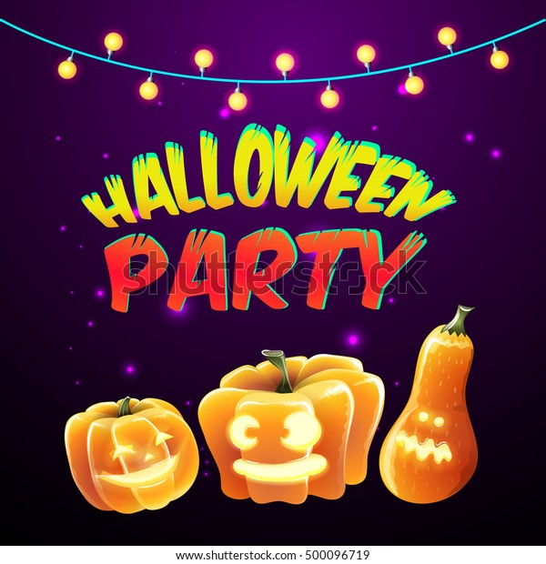 Halloween Party Invitation Cards Posters Vector