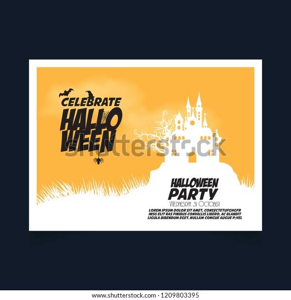 Halloween Party Invitation Design Creative Design Stock Vector ...