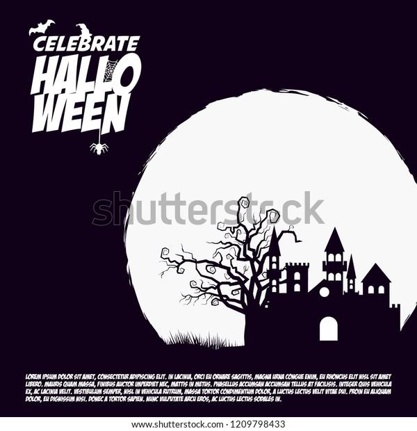 Halloween Party Invitation Design Dark Background | Backgrounds ...