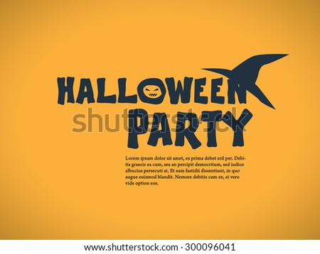 halloween party invitation template holiday celebration stock vector