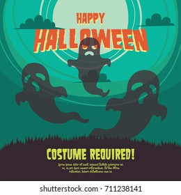Halloween Party poster illustration.