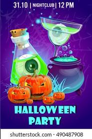 Halloween party poster.Halloween banner,Halloween flyer,Vector illustration