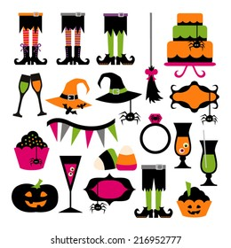 Halloween party vector graphic collection.