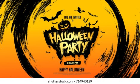 Halloween party. Vector illustration