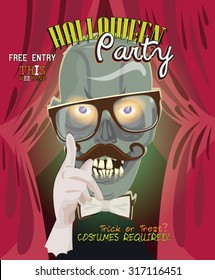 Halloween party vector invitation card