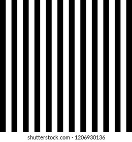 Halloween Pattern of repetitive vertical strips of black and white color. Black and white vertical stripes background. Seamless texture background. Vector illustration
