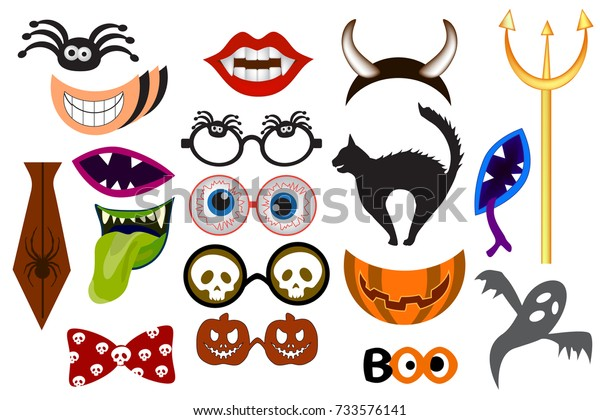 photo about Halloween Photo Booth Props Printable Free named Halloween Picture Booth Props Monster Social gathering Inventory Vector