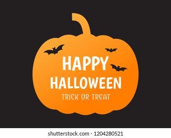 Halloween poster with pumpkin shape  - Vector illustration