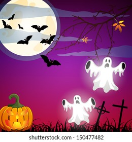 Halloween poster - vector