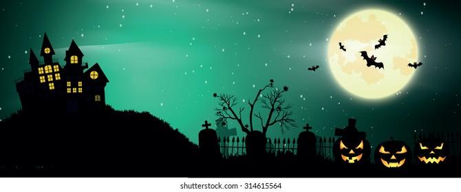 Halloween poster. Vector background.