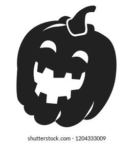 Halloween pumkin icon. Simple illustration of halloween pumkin vector icon for web design isolated on white background