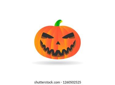 Halloween Pumpkin Autumn, vector logo