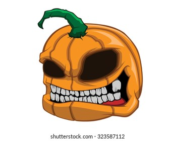 Halloween pumpkin color vector art