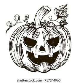 Jack O Lantern Drawing Images Stock Photos Vectors