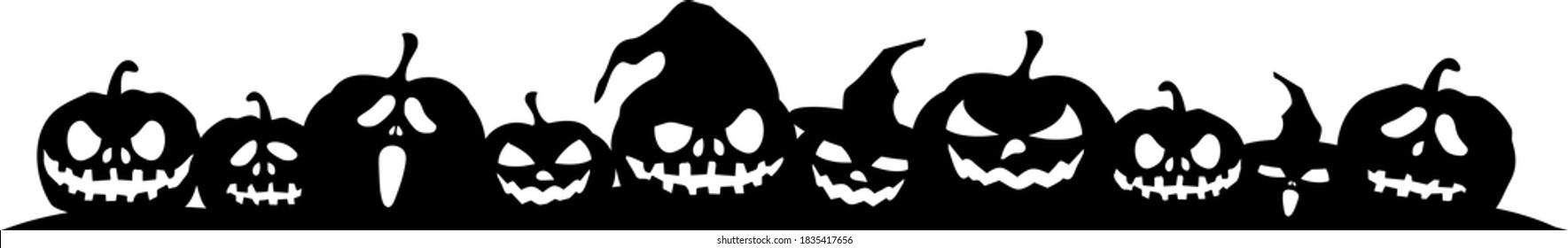 HALLOWEEN PUMPKIN Horror Holiday Silhouette Vector