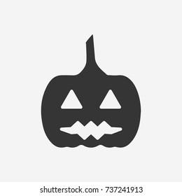 Halloween pumpkin icon illustration isolated vector sign symbol