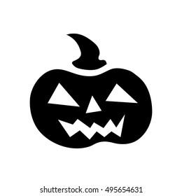 Halloween pumpkin icon. Simple illustration of pumpkin vector icon for web