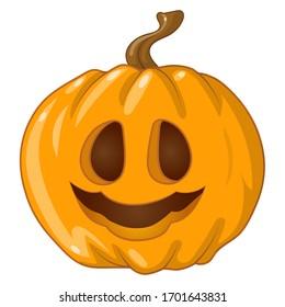 halloween pumpkin on white background