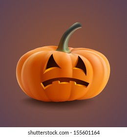 Halloween Pumpkin. Scary Jack. Vector illustration