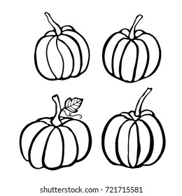 Royalty Free Outline Pumpkin Stock Images Photos Vectors