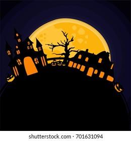 halloween pumpkin theme art vector
