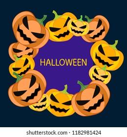 Halloween pumpkin vector background