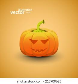 Halloween Pumpkin, Vector Illustration eps10, Graphic Concept For Your Design.