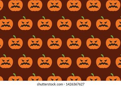 Halloween pumpkin vector pattern design for textile printing, art and creativity