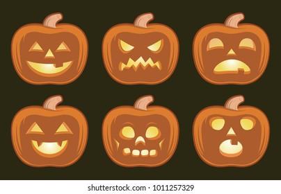 Halloween pumpkins convey varied emotions