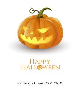 Halloween pumpkins isolation vector illustration.