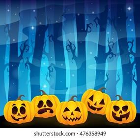 Halloween pumpkins theme image 1 - eps10 vector illustration.
