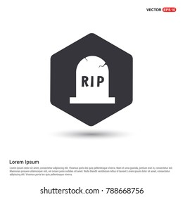 Halloween RIP Grave Stone icon Background icon template