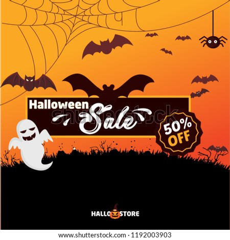 Halloween Poster Background Free.Halloween Sale Background Vector Halloween Poster Stock