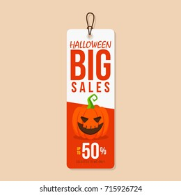 halloween sale tag template stock vector royalty free 715926724