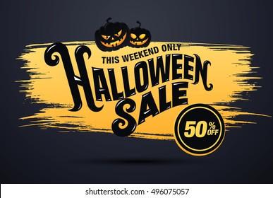 Halloween sale. Vector illustration