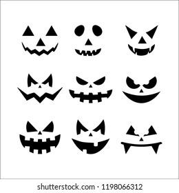 Halloween scary pumpkin faces
