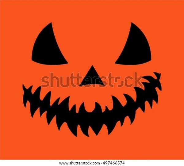 Halloween, scary pumpkin, orange background