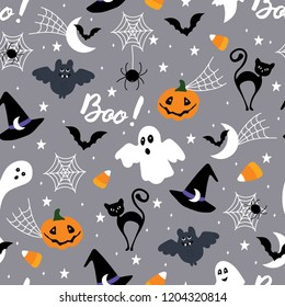 Halloween seamless pattern.