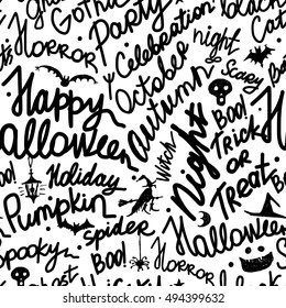Halloween seamless pattern for your design