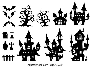 Halloween / Set of a ghost house.