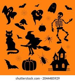 Halloween set. Vector set of elements for Halloween design.