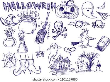 halloween, sketch doodle