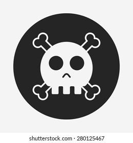 halloween skull icon