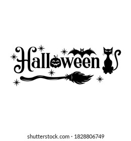 Halloween slogan inscription. Vector Halloween quote. Illustration for prints on t-shirts and bags, posters, cards. 31 October vector design. Isolated on white background.